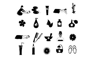 Spa and massage icons