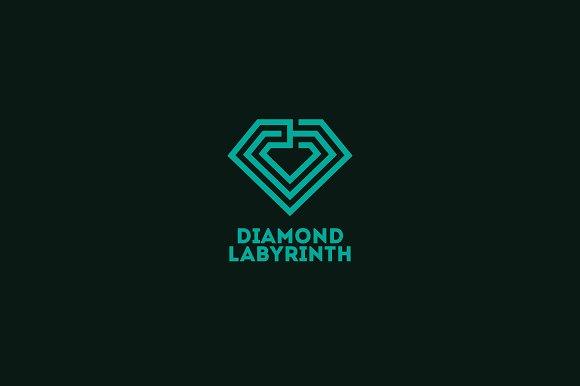 Diamond Labyrinth Logo Template