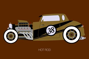 gold hot rod