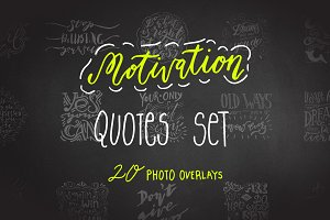 Motivation Quotes set