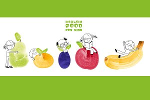Healthy food for kids web banner