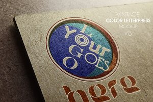 Vintage Color Letterpress Mockup
