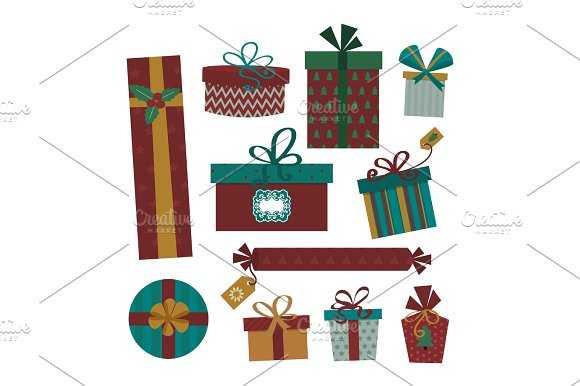 Gift Box Isolated Present Vector Illustration