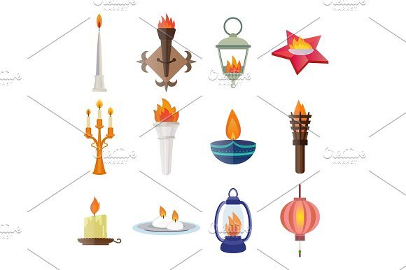 Fire Torch Victory Champion Flame Icon Vector Illustration