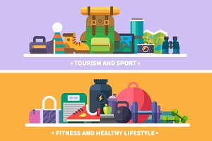 Tourism and sports.Healthy lifestyle