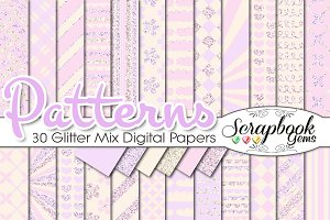BABY GIRL PINK GLITTER MIX PAPERS