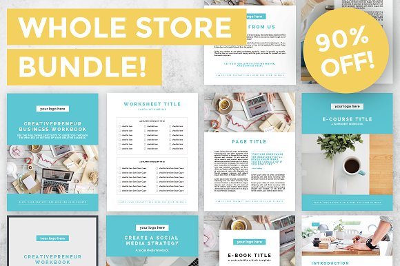 90% OFF - Whole Store Bundle in Templates
