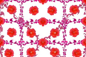 Colorful Floral Collage Seamless Pattern