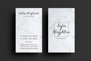 Marble Photography Business card