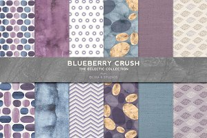 Blueberry Crush Watercolor Dots