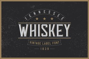 Tennessee Whiskey label font