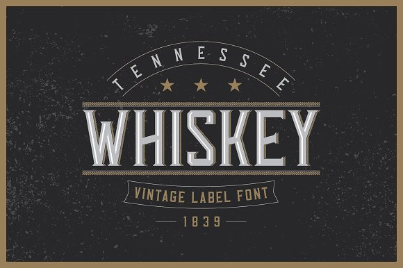tennessee whiskey label font display fonts creative market