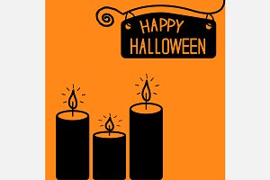 Happy Halloween candles