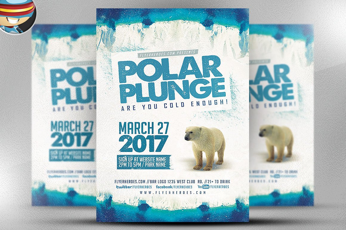 flyer heroes flyerheroes sports flyer template collection polar plunge flyer template