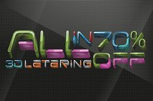 All in 3D lettering 70% off