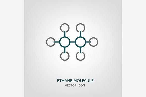 Ethane Molecule Icon