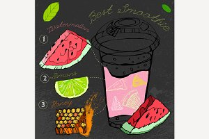 Watermelon & Lemon Smoothie