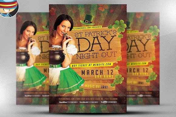 St PatrickЎЇs Night Out Flyer