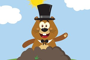 Marmot Cartoon Mascot Character
