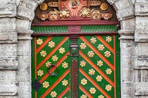 Vintage medieval door
