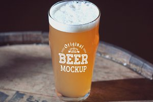 Beer Glass Mock-up#47