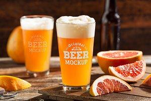 Beer Glass Mock-up#48
