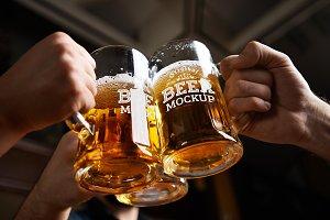 Beer Glass Mock-up#49