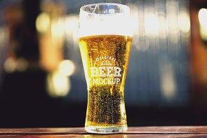 Beer Glass Mock-up#50