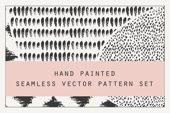 Hand Painted Vector Pattern Set