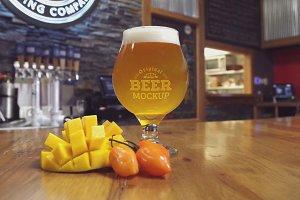 Beer Glass Mock-up#51