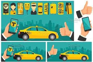 Taxi drive service icon.