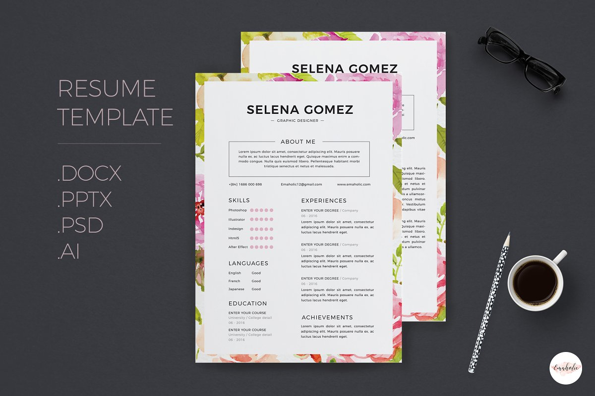 Elegant CV and Cover Letter template