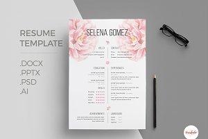 Elegant Floral CV Template