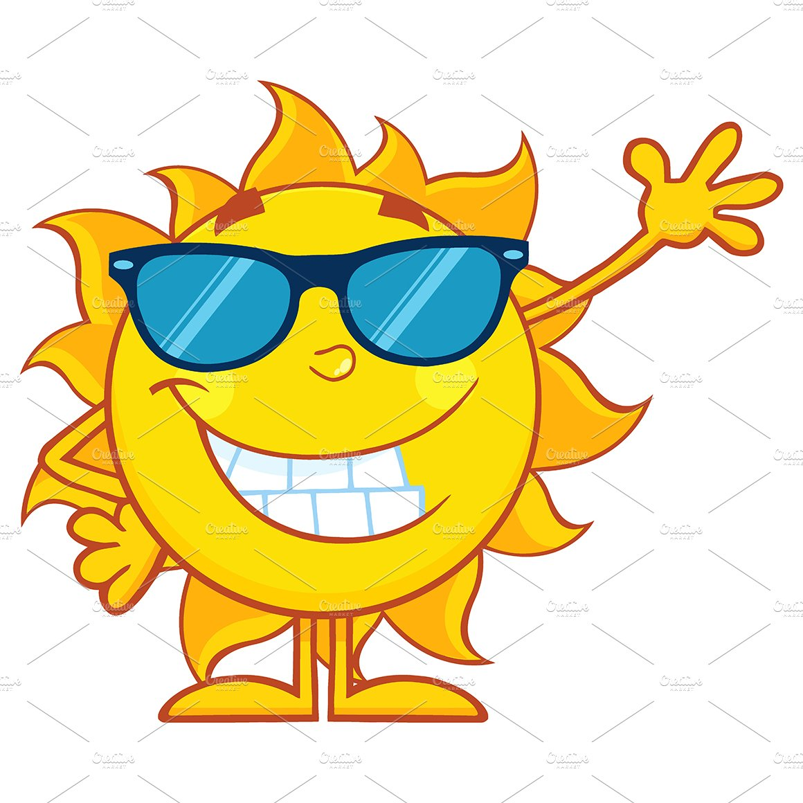 Smiling sun with sunglasses - Smiling Sun With Sunglasses 24