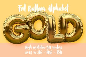 Gold Foil Balloon Alphabet