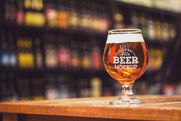 Beer Glass Mock-up#52
