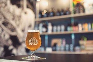 Beer Glass Mock-up#53