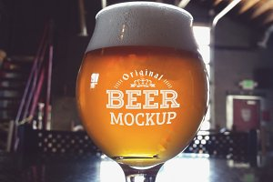 Beer Glass Mock-up#54