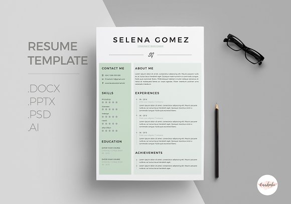 modern cv coverletter template resumes