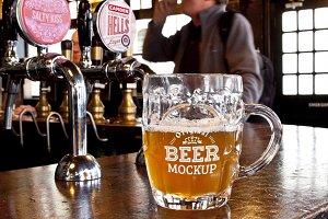 Beer Glass Mock-up#56