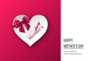 Happy Mother's day greeting card, banner.