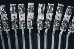Parts of typing machine