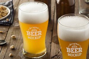 Beer Glass Mock-up#59