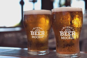 Beer Glass Mock-up#60