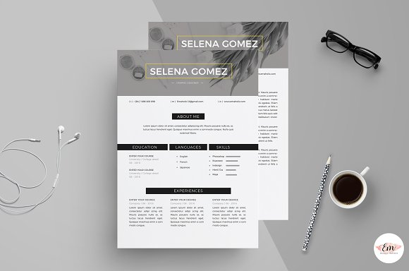 Modern 1 Page Resume Template in Resume Templates - product preview 1