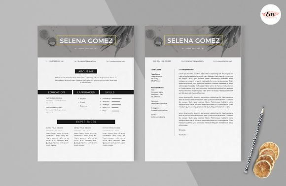 Modern 1 Page Resume Template in Resume Templates - product preview 2