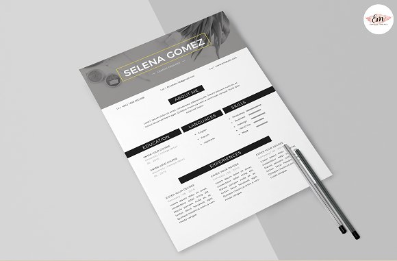 Modern 1 Page Resume Template in Resume Templates - product preview 3