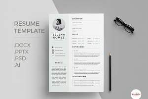 Elegant 1 Page Resume Template
