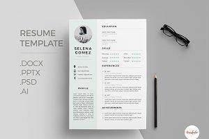 Elegant 1 Page Resume Template