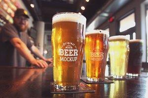 Beer Glass Mock-up#61